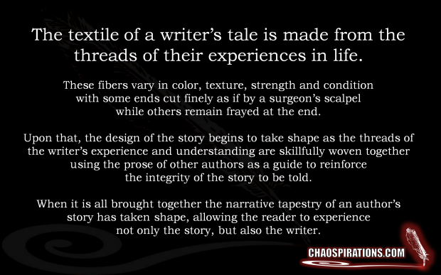 The textile of a writer_s tale is made